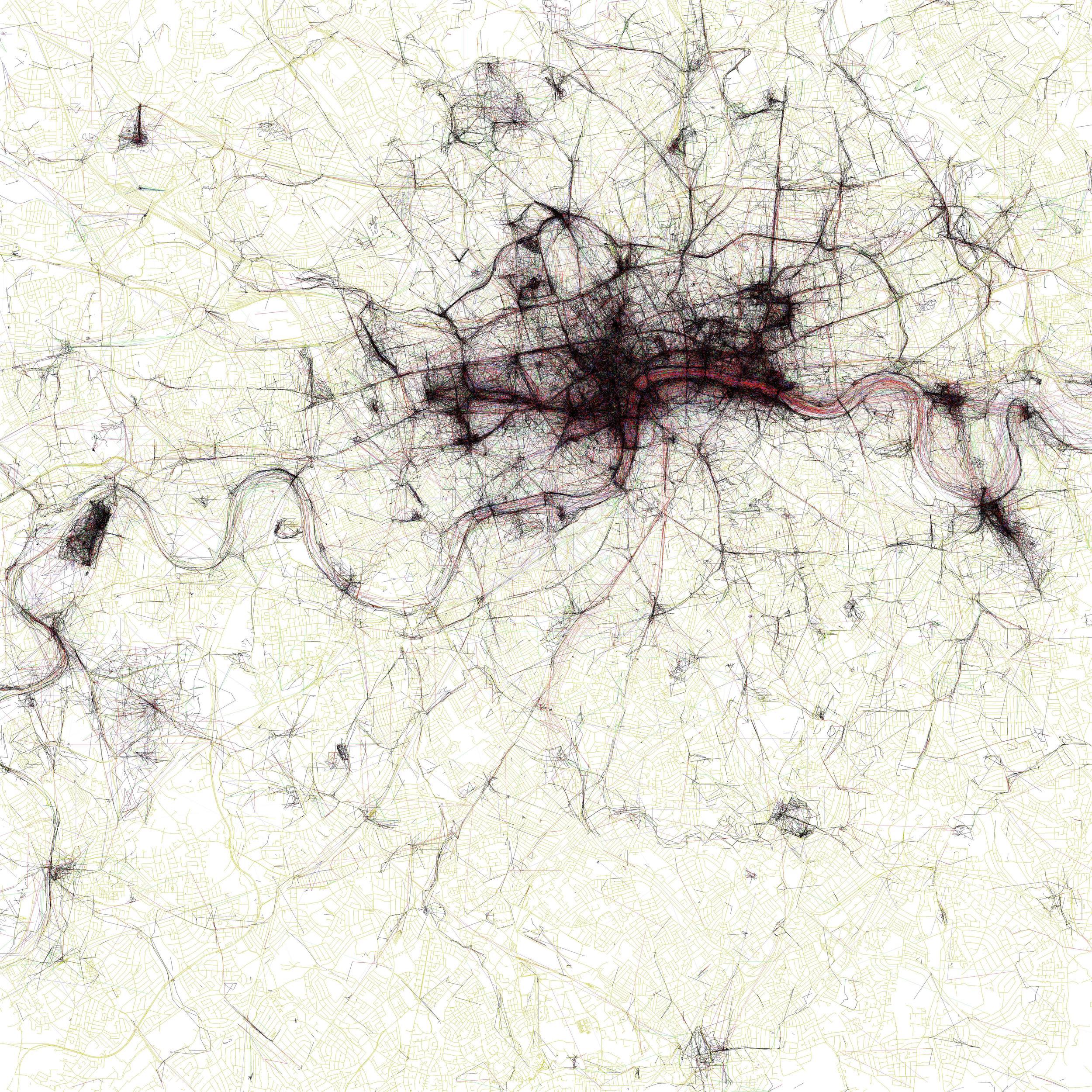 "Eric Fischer, ""The Geotagger's World Atlas #2: London,"" 2010."