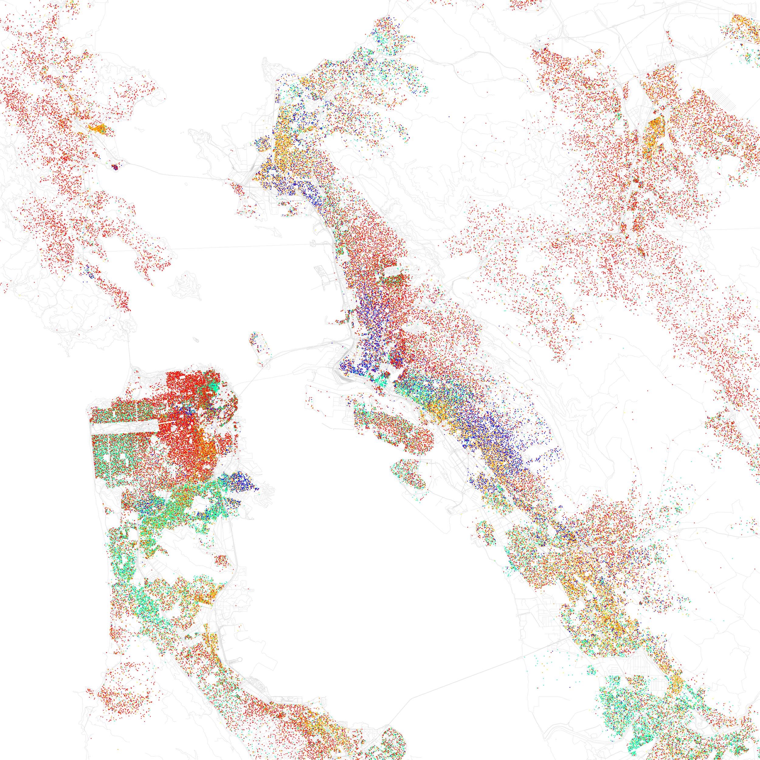 "Eric Fischer, ""Race and Ethnicity 2010: San Francisco, Oakland, Berkeley,"" 2011."