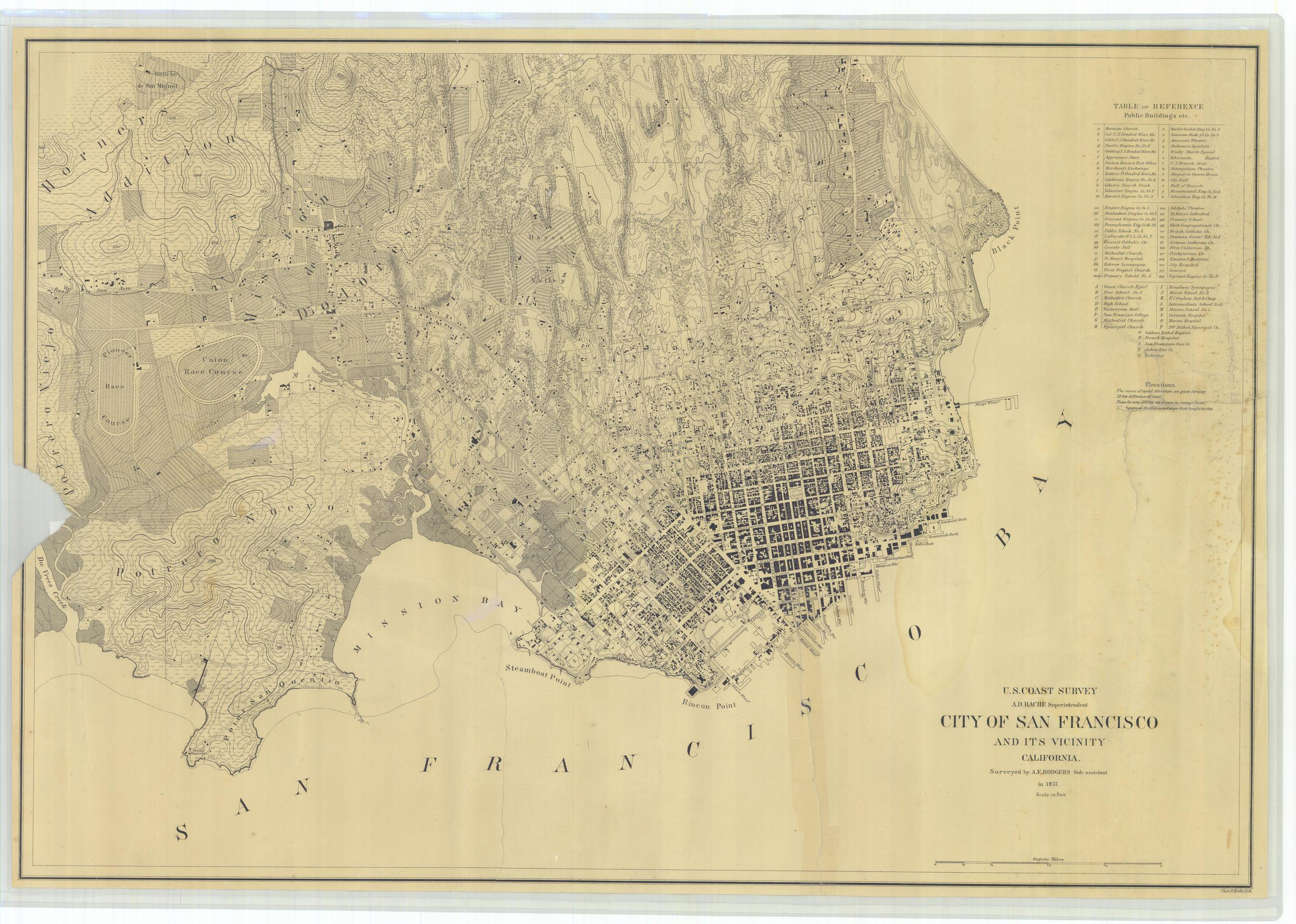 "U.S. Coast Survey, ""City of San Francisco and its Vicinity,"" 1857."