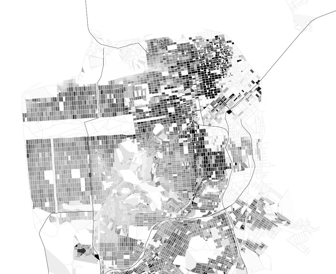 "Eric Fischer, ""San Francisco Population Density by Block,"" 2006."
