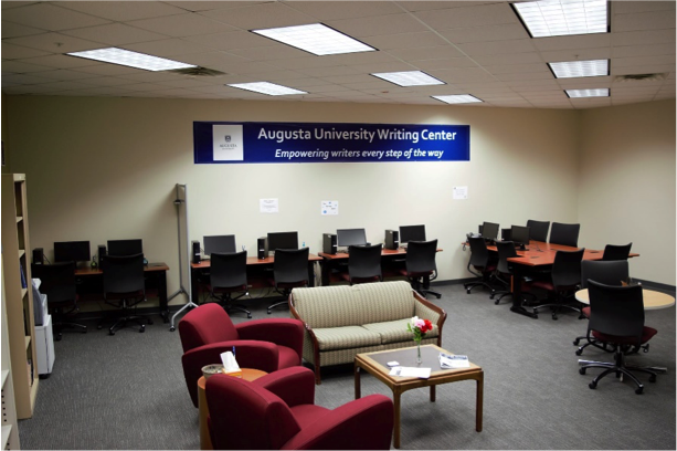 picture of a section of the Augustus University Writing Center.