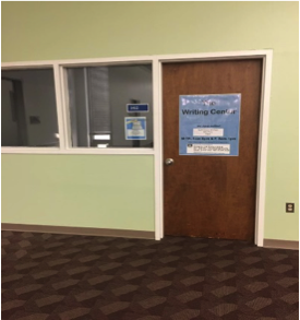 the door to the Augustus University Writing Center