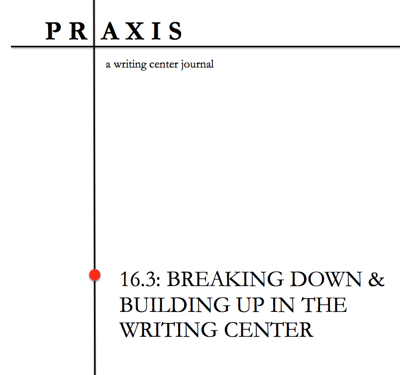 the cover for the 16.3 edition of Praxis Journal.