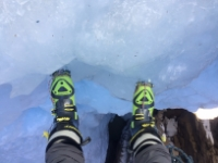 Lowering into the ice park at Ouray
