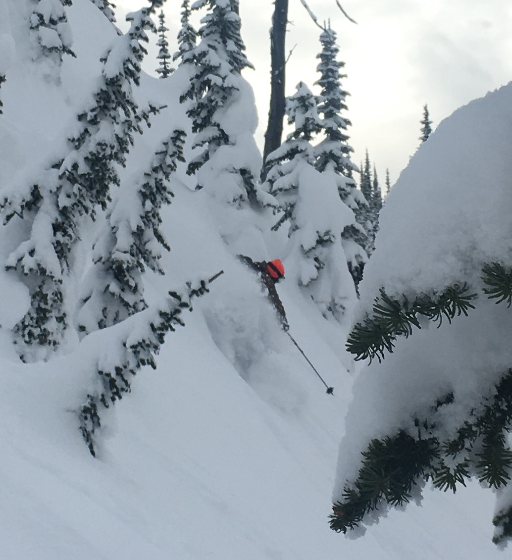 AIARE 2 student, Matt Kennedy, gets the goods at Ymir last spring!