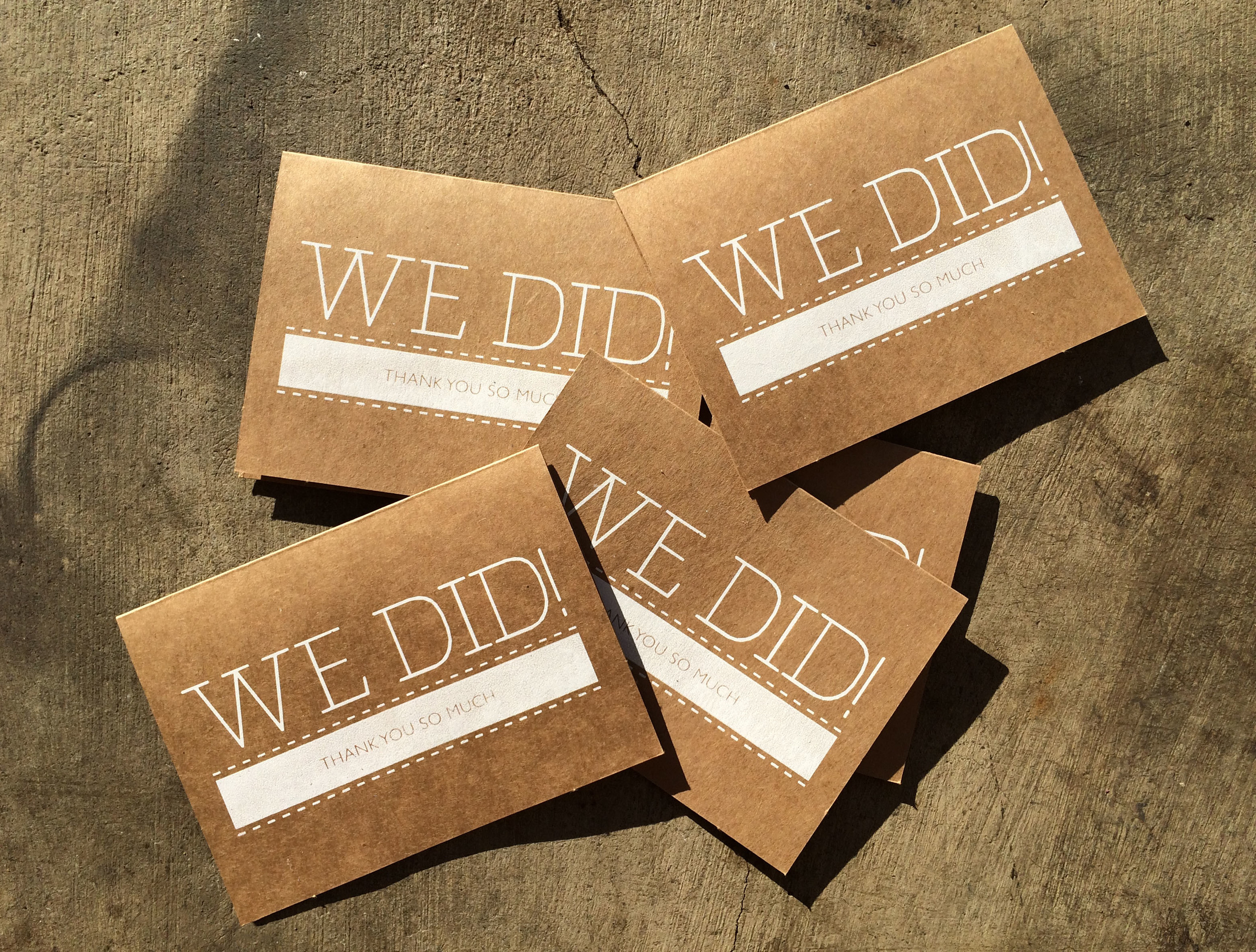 RISE bridal screen printed silkscreen wedding Thank You Cards Joel Loera 2