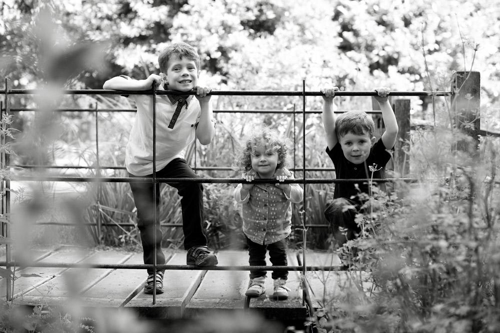3 children on bridge