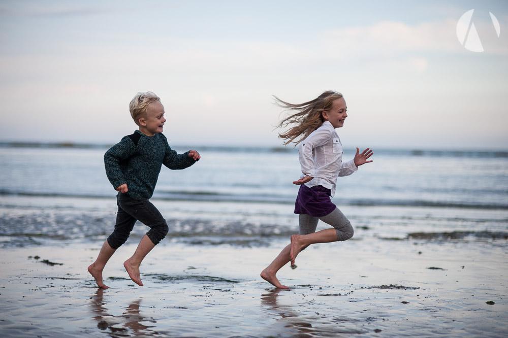 Running on Eastbourne Beach