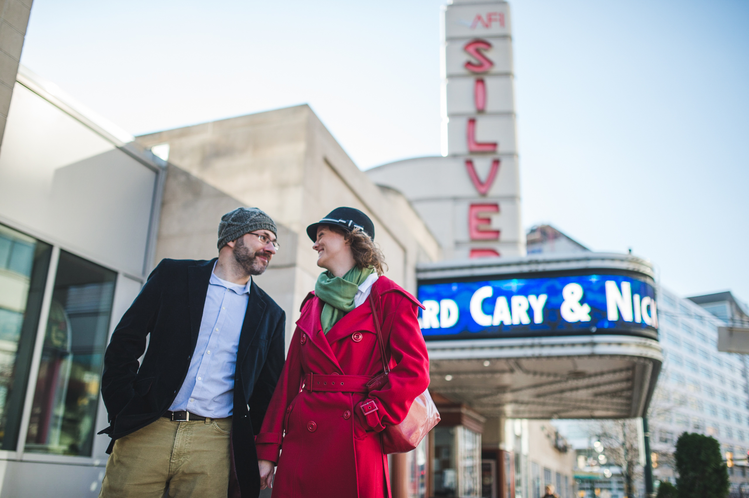 Silver Spring AFI Movie theater Engagement Session Photographer Mantas Kubilinskas-10.jpg