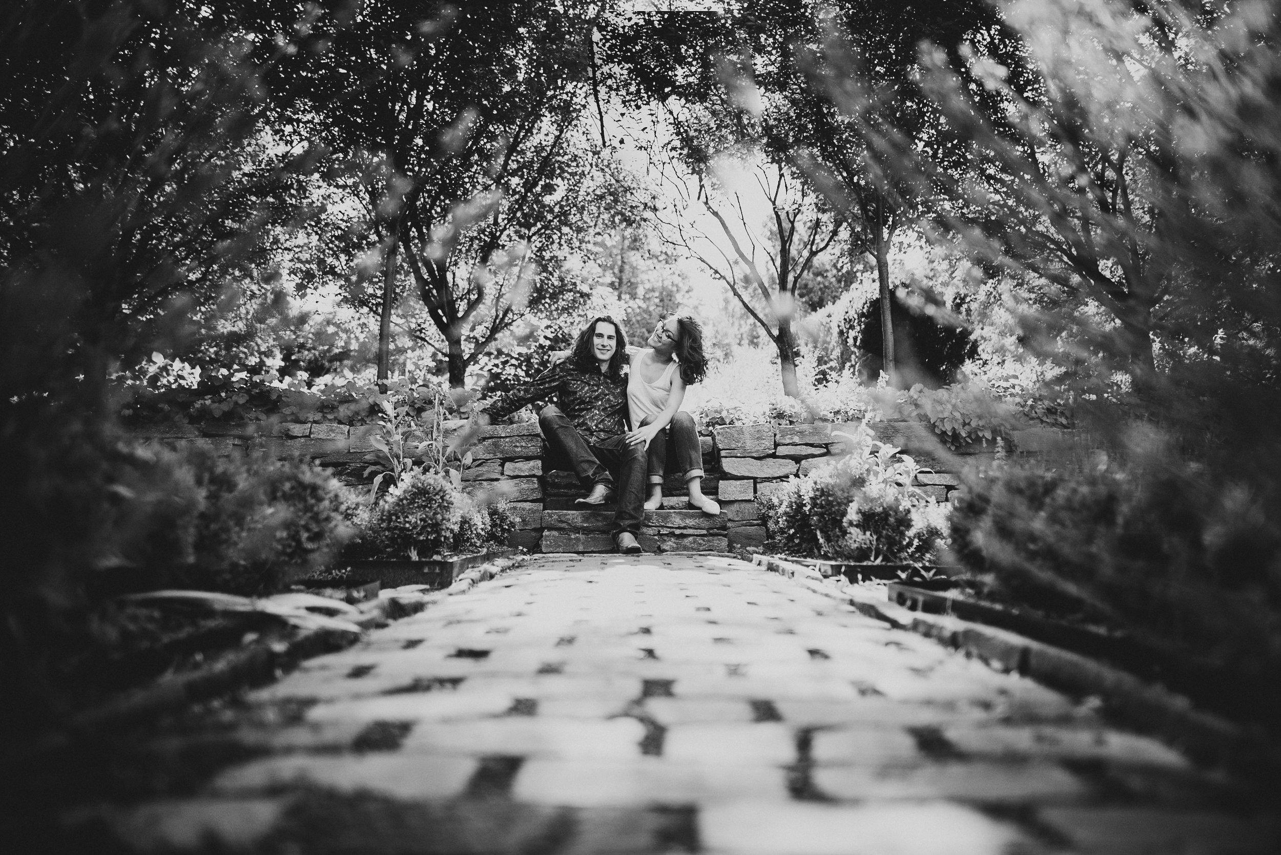 dumbarton oaks engagement session