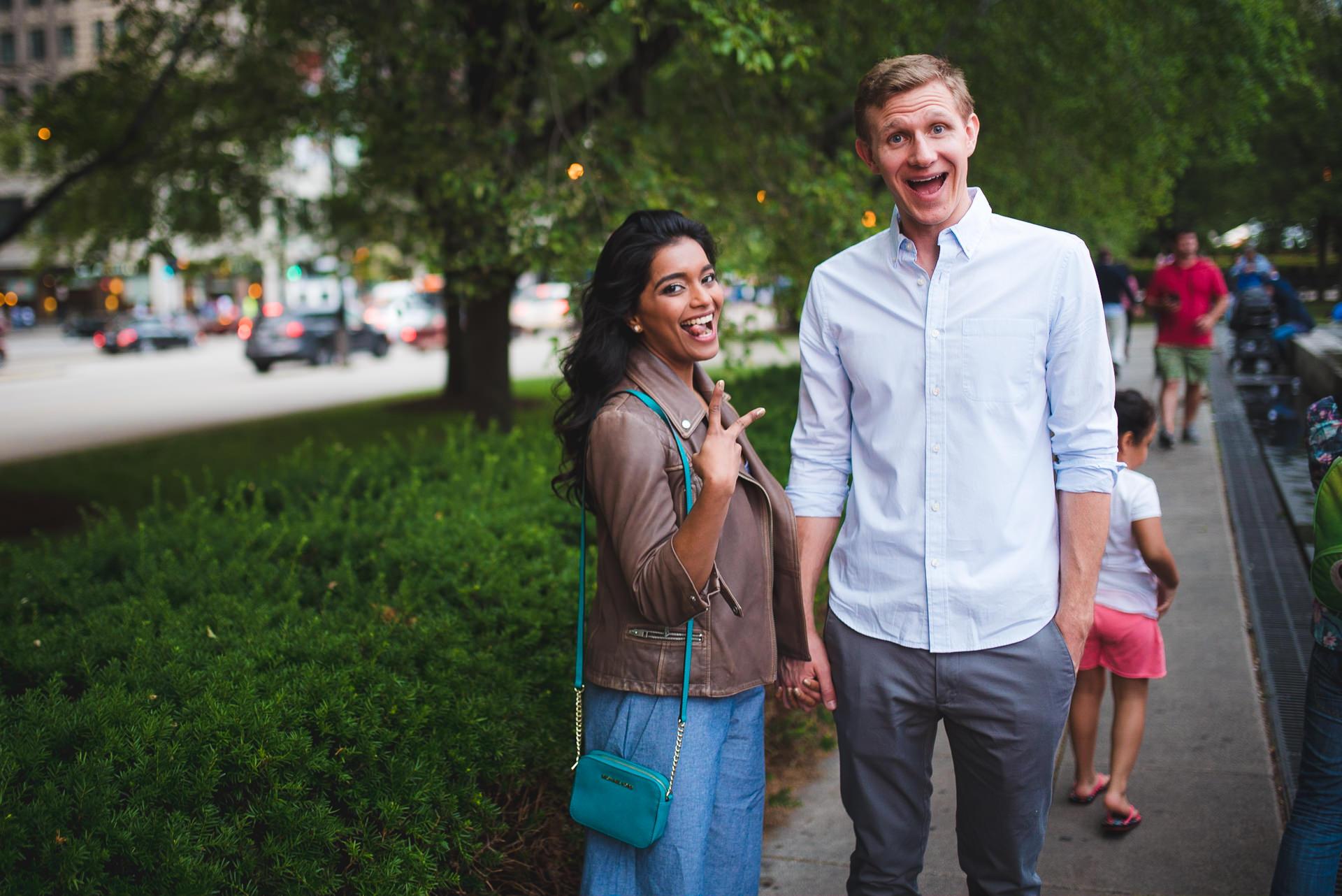 Millennium Park engagement photography