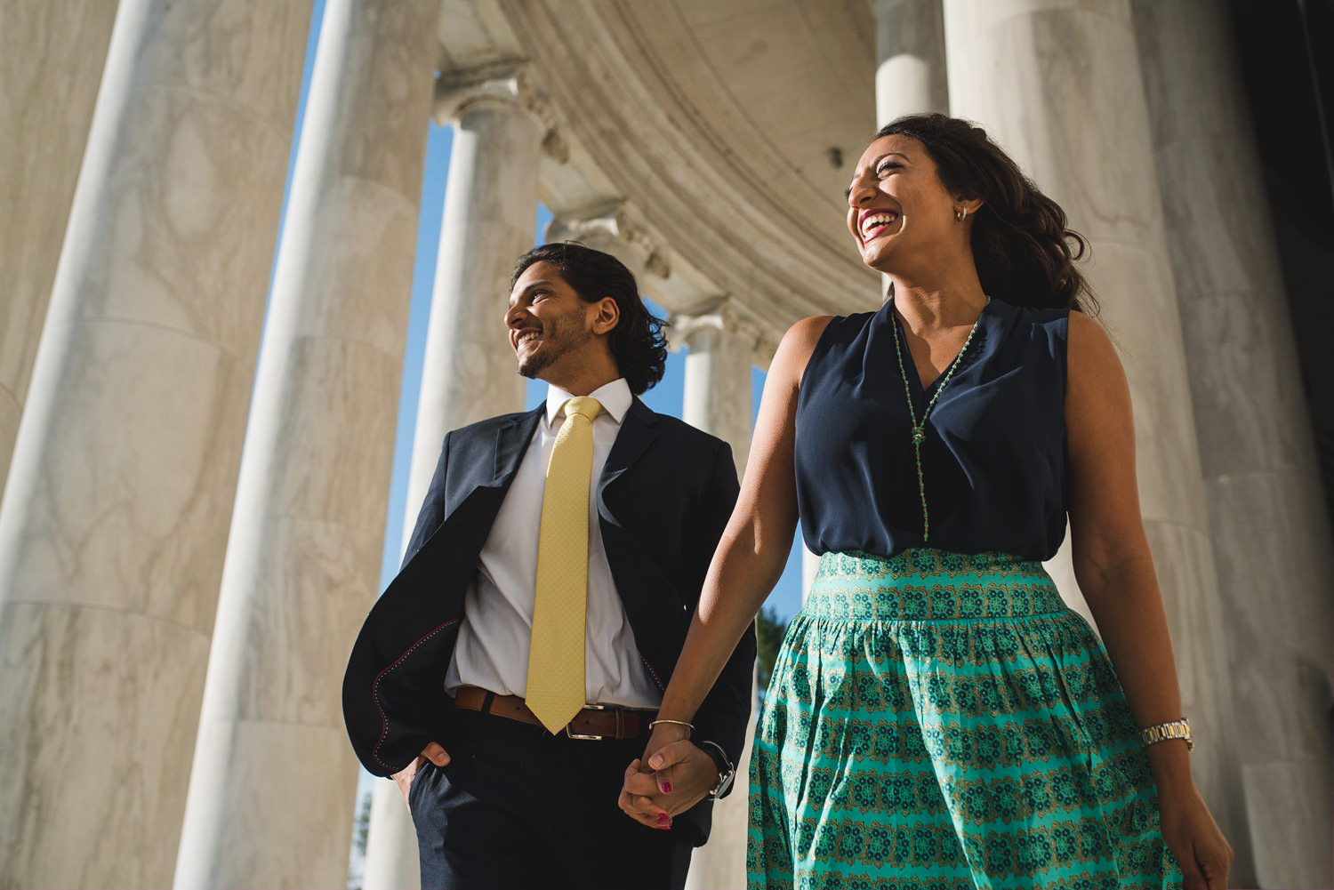 Jefferson Memorial creative engagement session