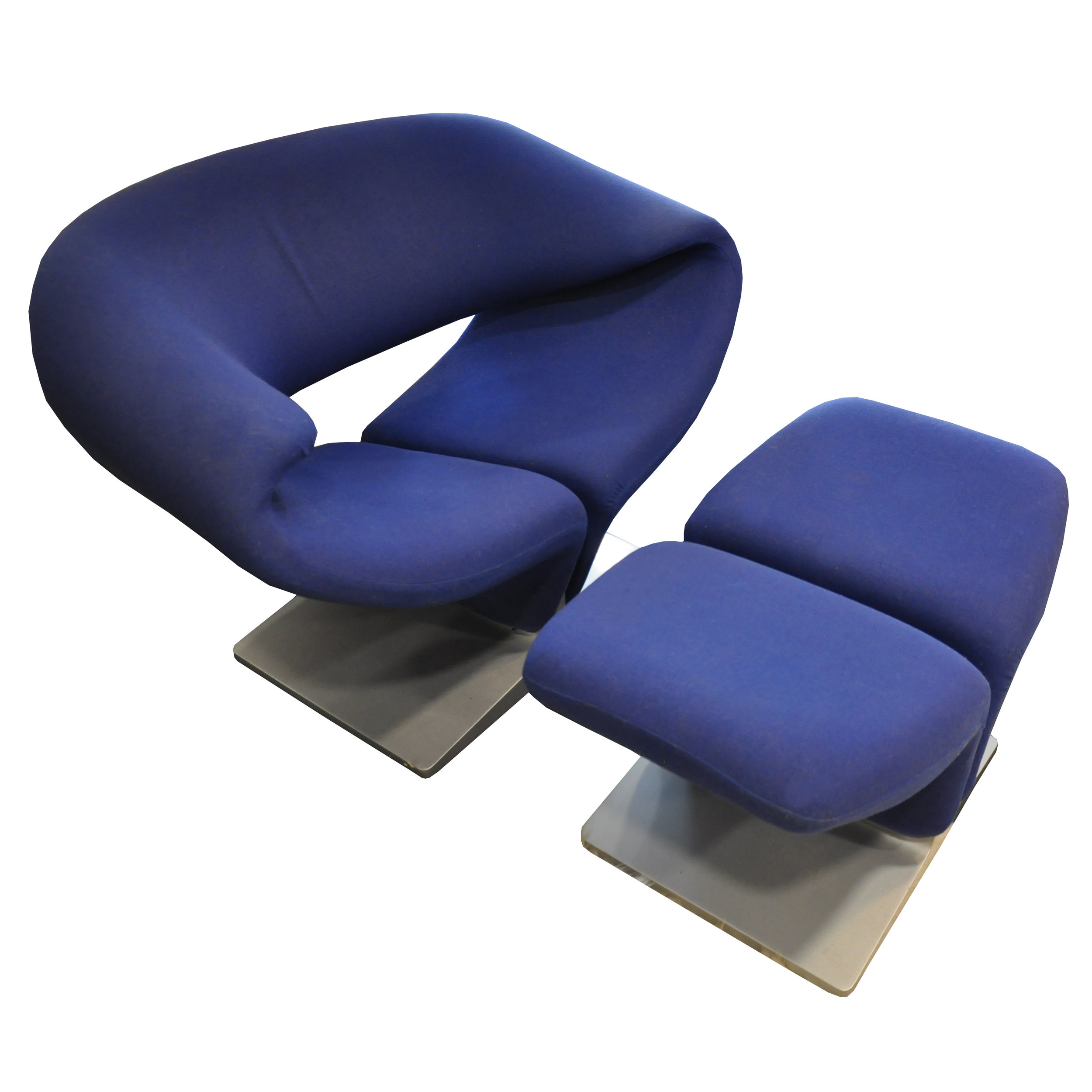 Ribbon Chair Blau -
