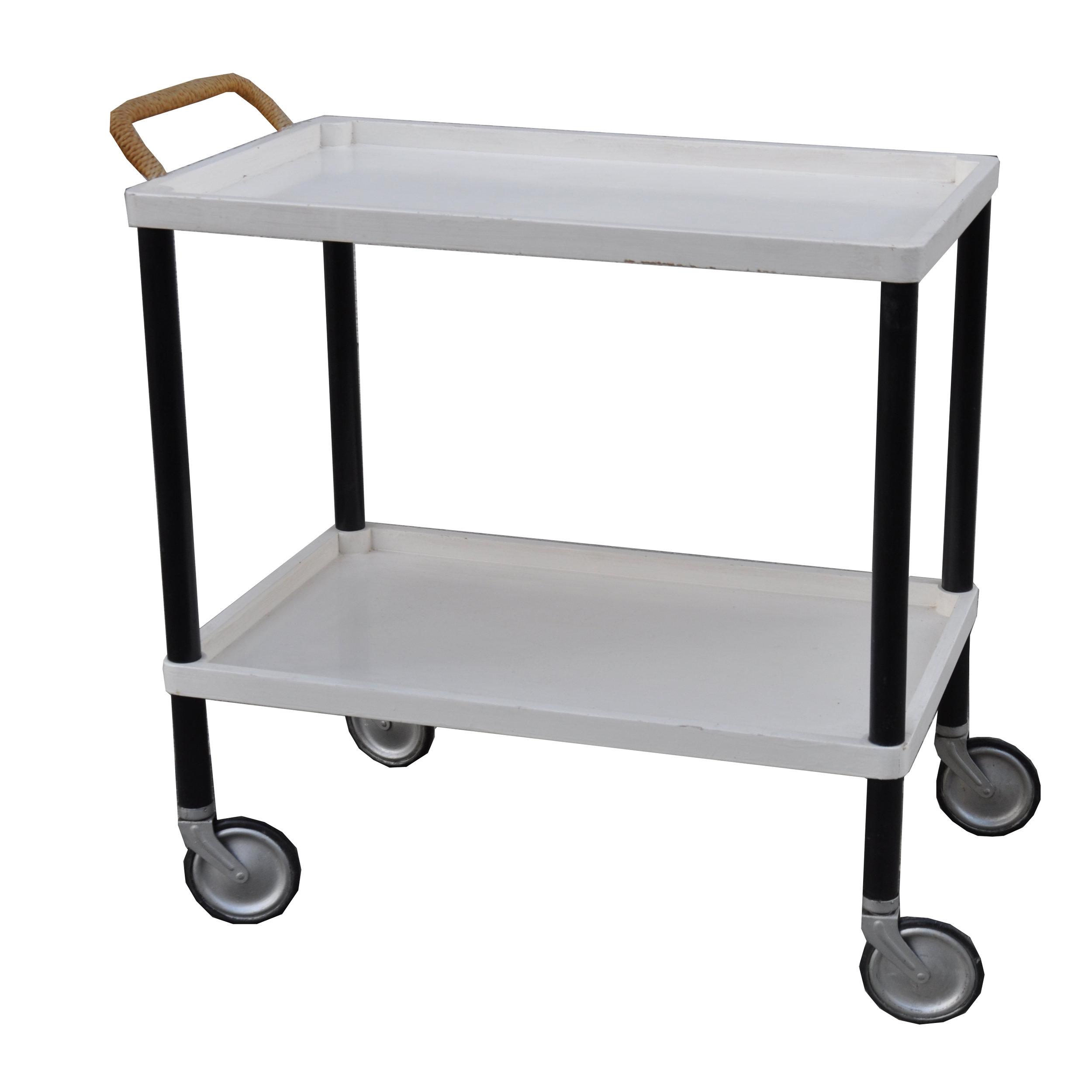 Bauhaus Teewagen schwarz-weiß -