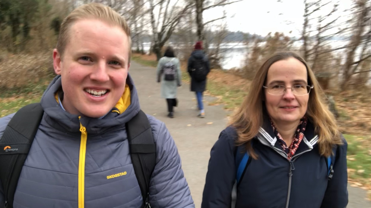 With my client, Birgit, in Berlin.