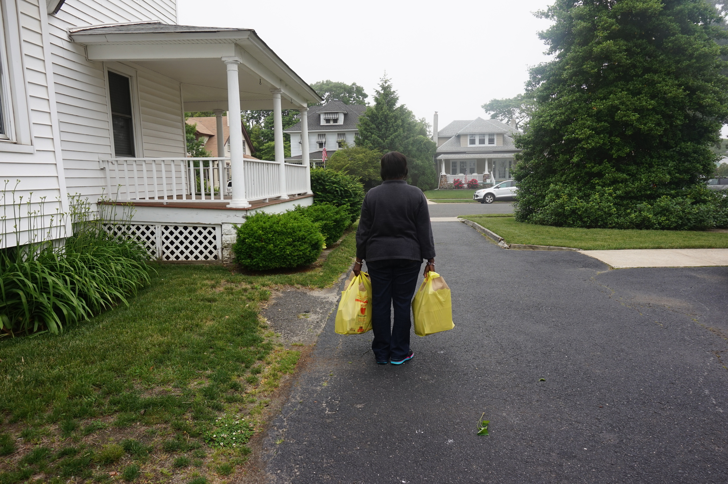 Clients received two or three bags of food, depending on family size, once a month.