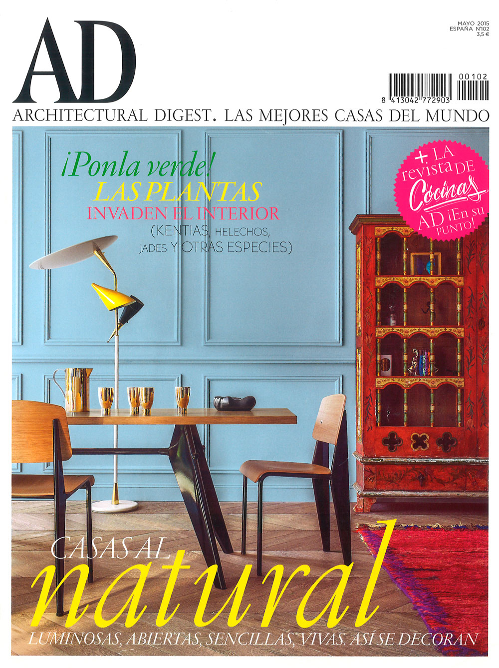 ARCHITECTURAL DIGEST, AD Spain MAGAZINE, Issue 102, May 2015.