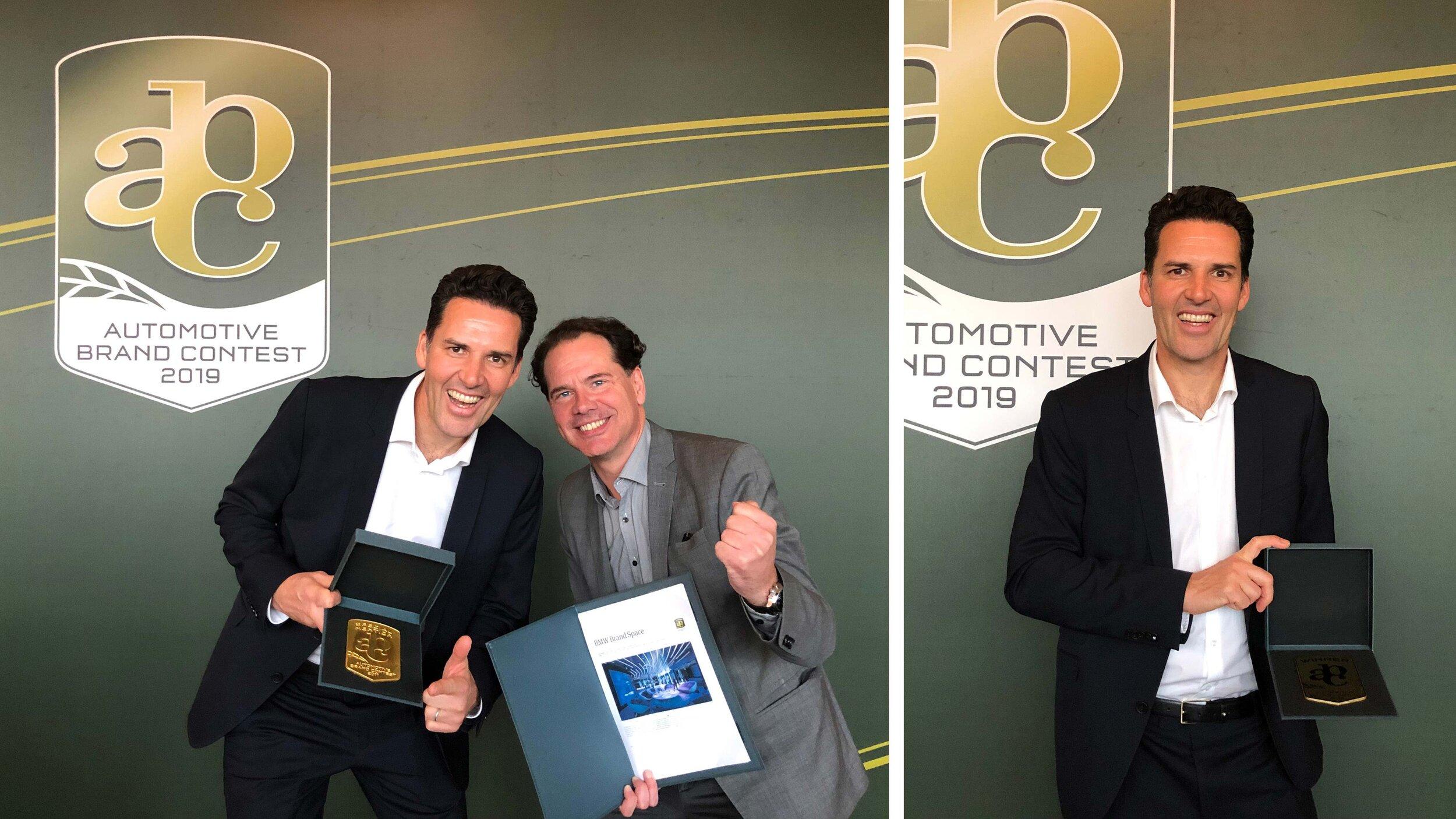 BMW Welt |BMW Brand Space von yellow design gewinnt beim Automotive Brand Contest 2019 |Jörg Dohmen und Ernst Wedekind