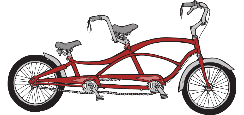 Tandem bike for New Duds