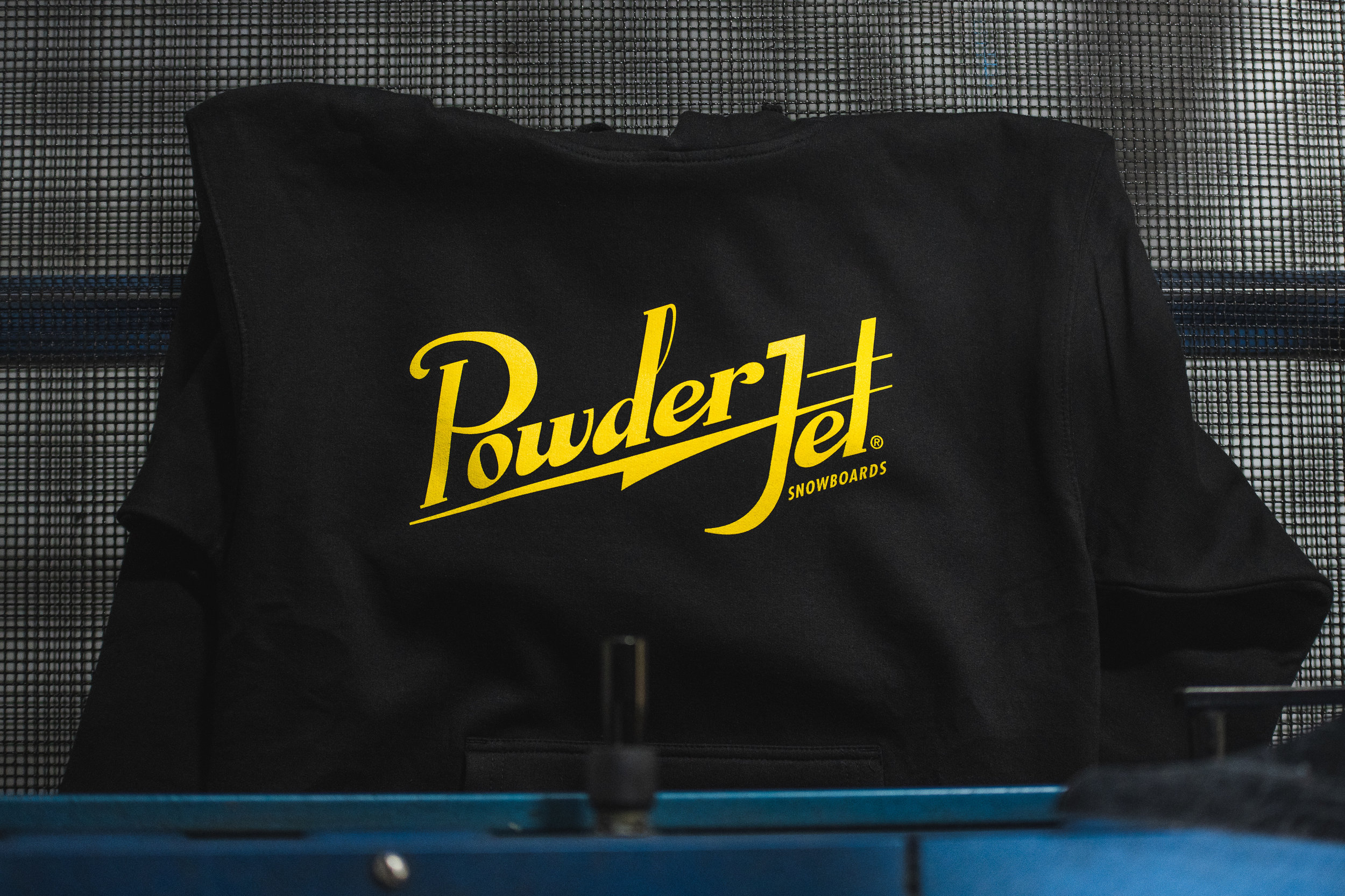 1 Color print for PowderJet Snowboards