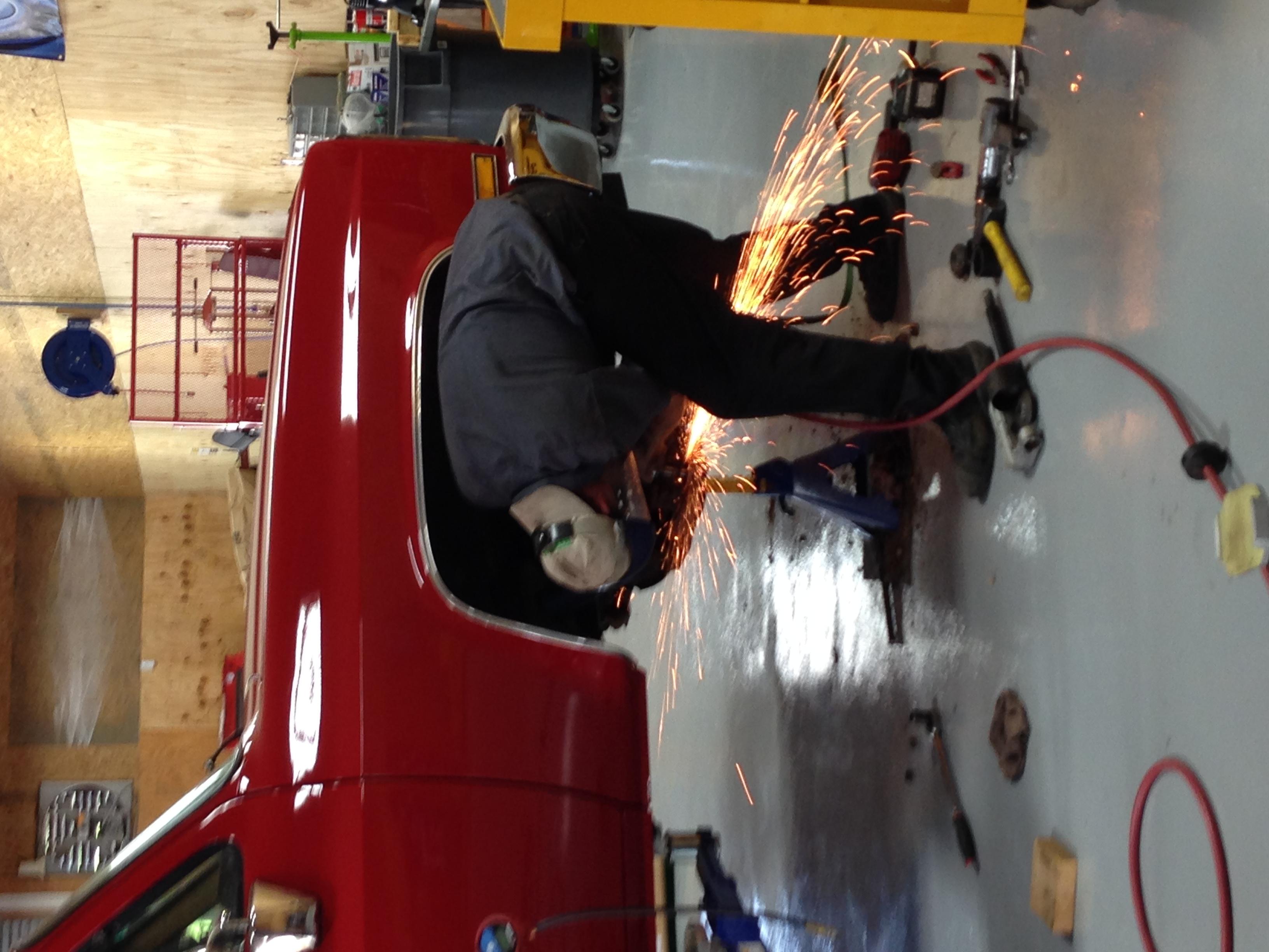 team ryan automotive ball joints grinder