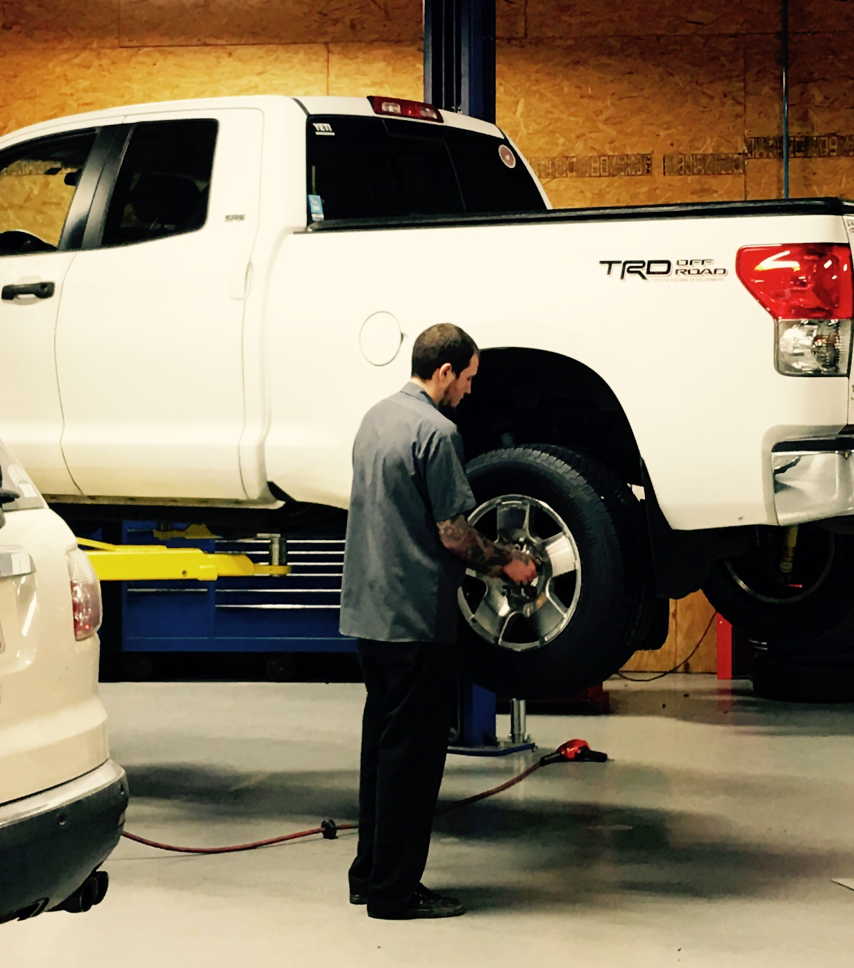 We remove your vehicle's tires to be able to do a complete brake inspection. Providing peace of mind for our customers!