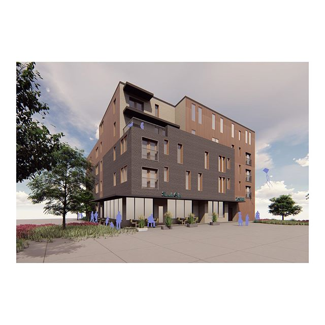 On the boards, Placetailor designed, development and build by others. 38 units of Passivehouse commuter oriented rental housing in Brockton. #architecture #construction #development #placetailor #2030 #carbonchallenge #aia #design #sustainability #placetailordesigns #passivehouse