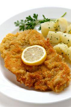 A delicious schnitzel in Tirol