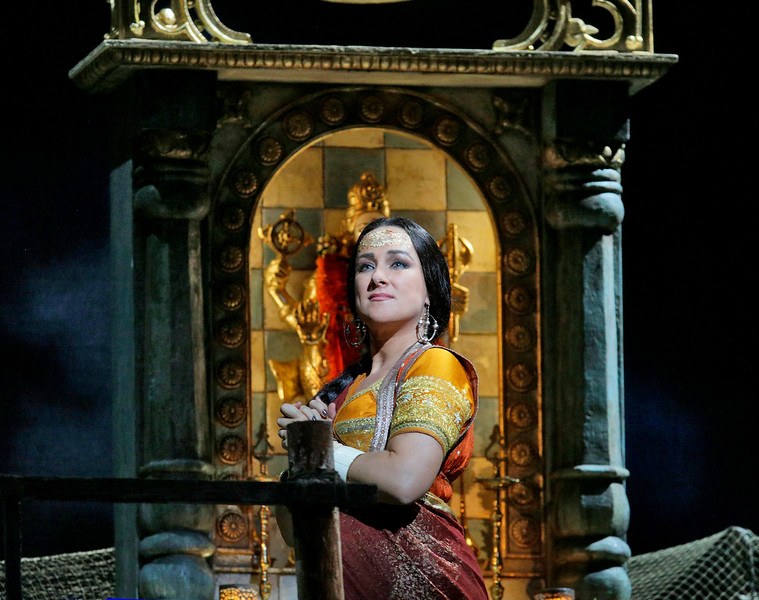Diana Damrau is Leila in  The Pearl Fishers