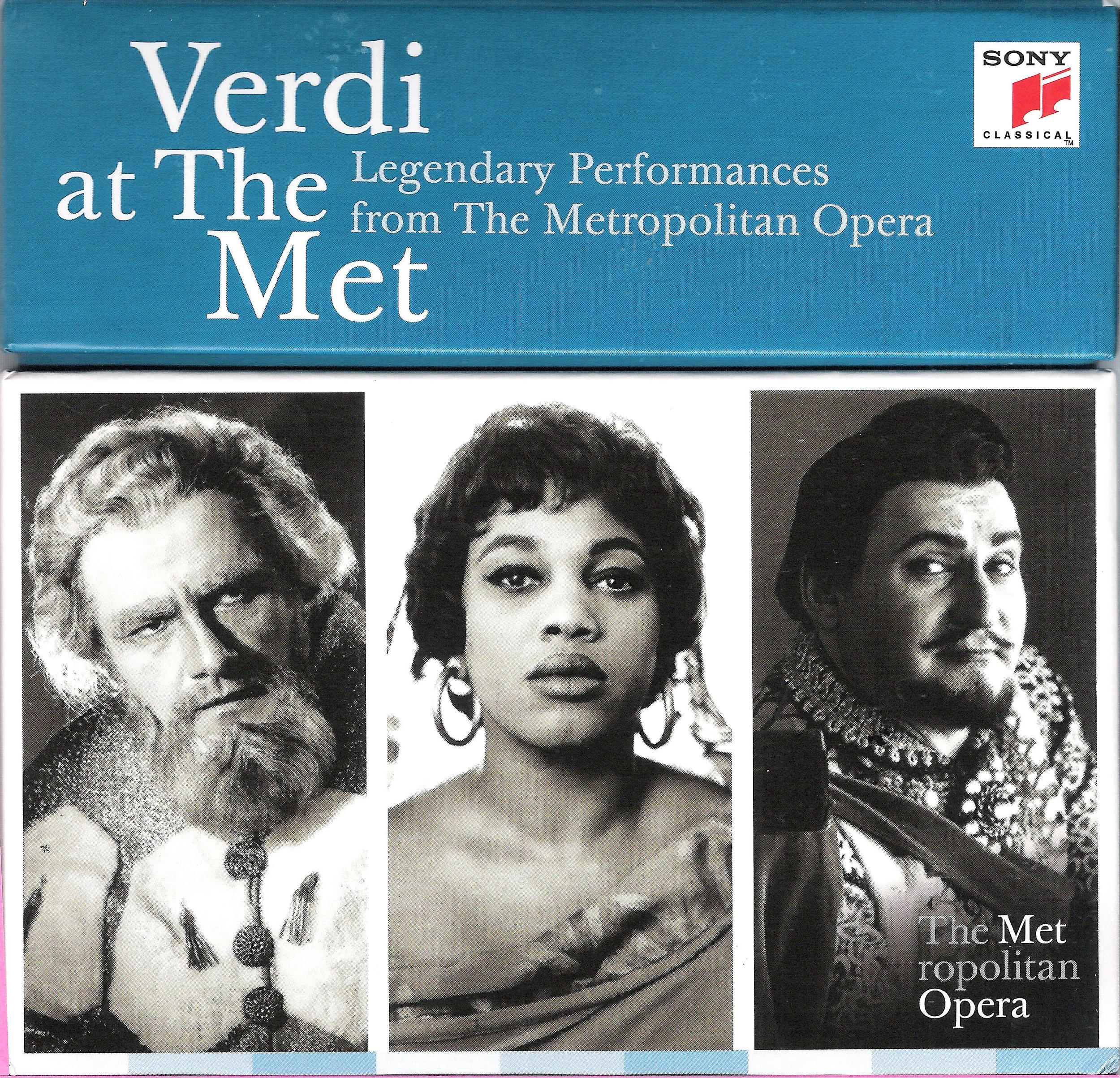 Leonard Warren, Leontyne Price, and Richard Tucker on Verdi boxed set