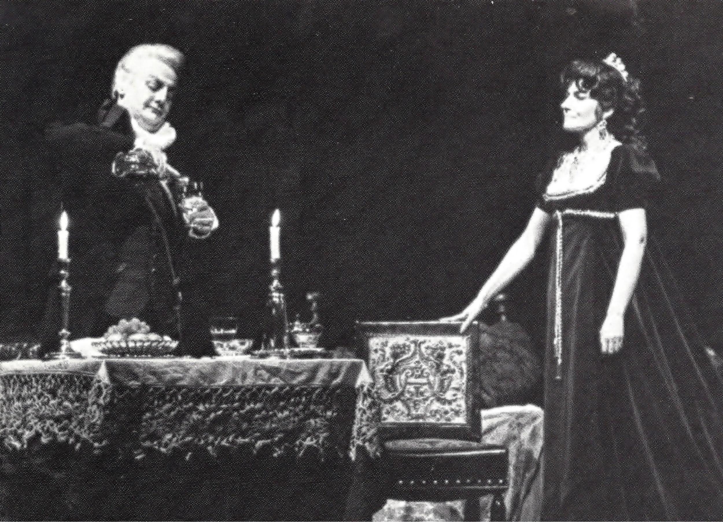 Tito Gobbi as Scarpia with Maria Callas as Tosca, 1965