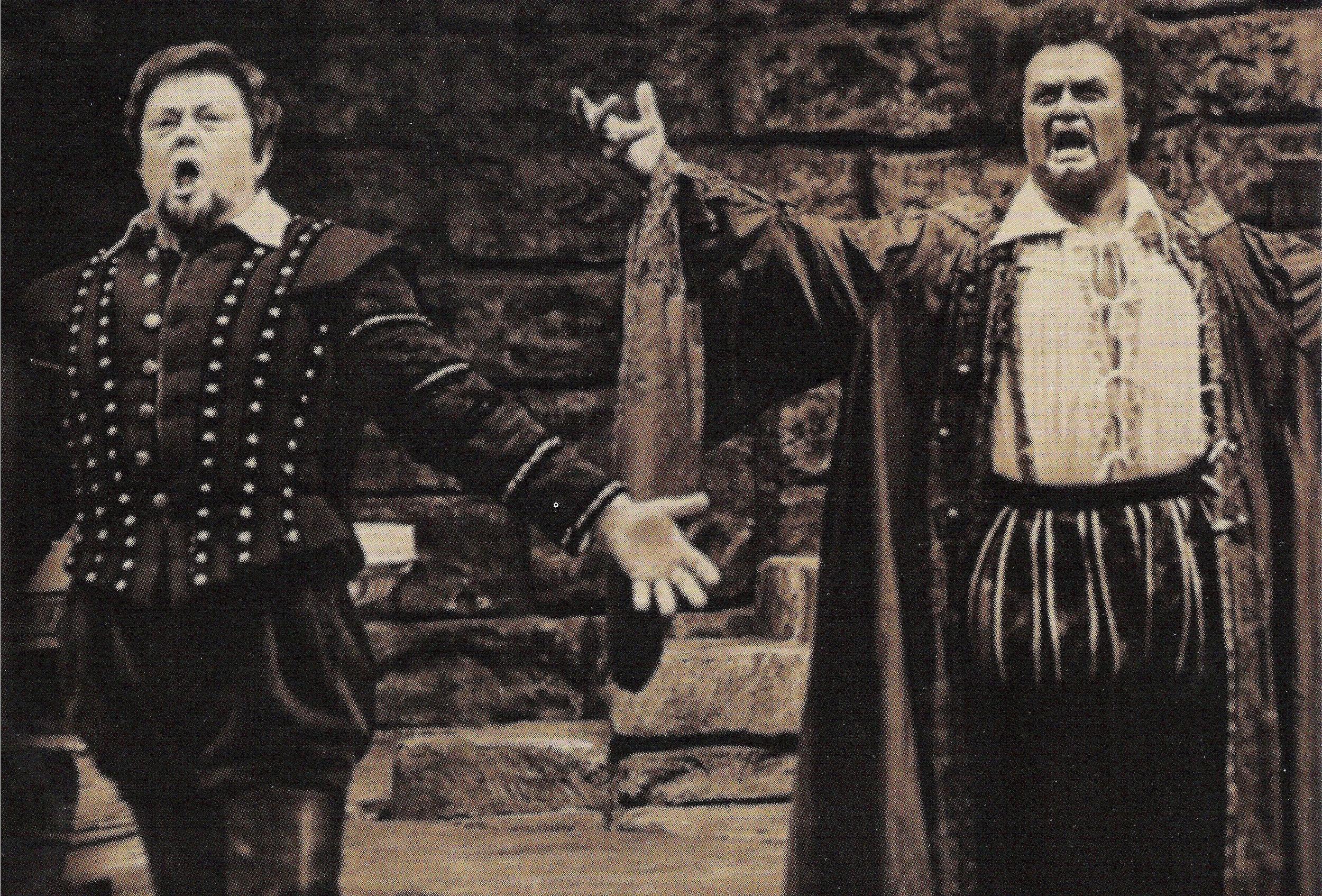 Cornell MacNeil as Iago and Jon Vickers as Otello, Metropolitan Opera telecast