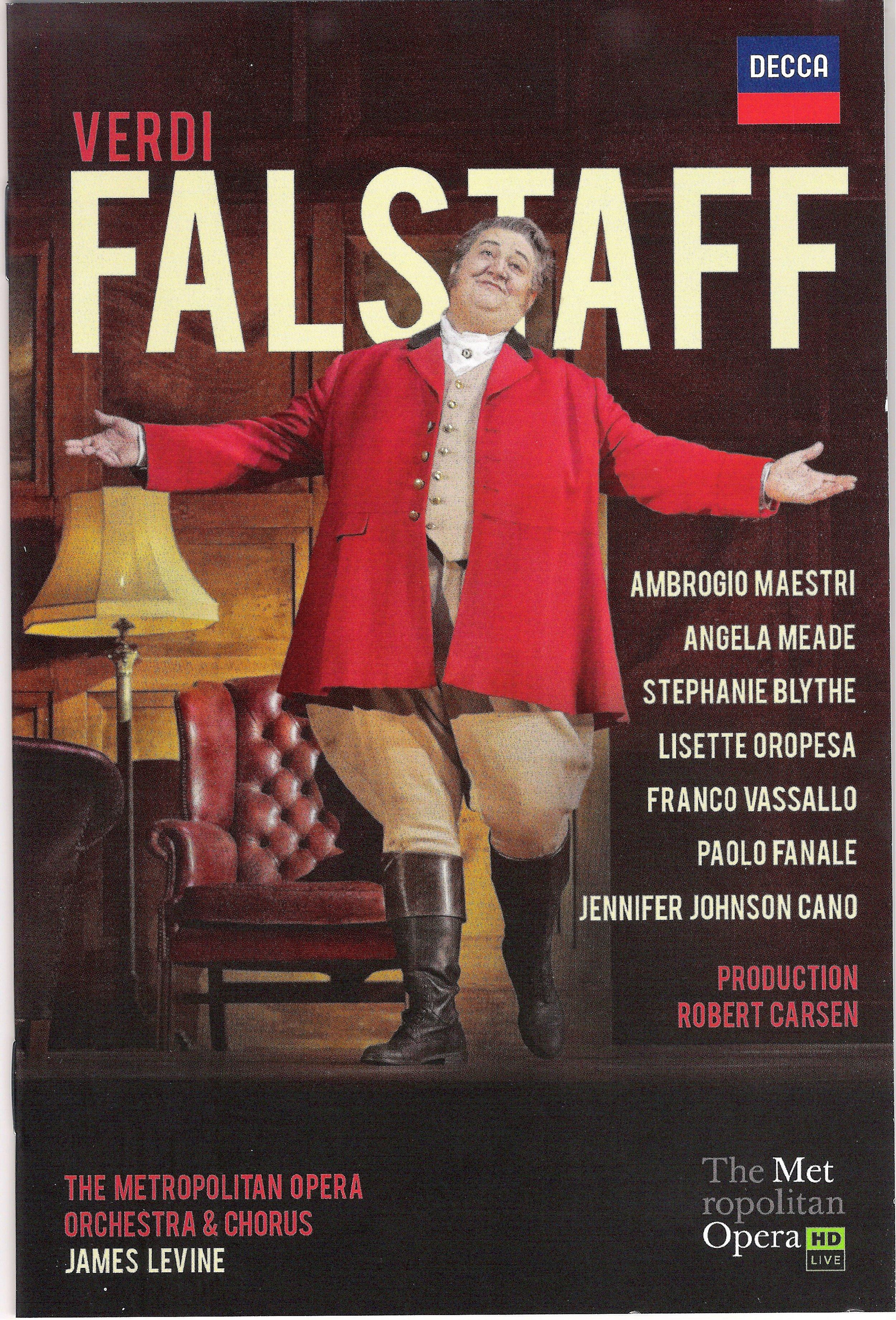 Ambrogio Maestri as Verdi's Falstaff