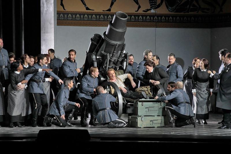 Baron Ochs and his troop in Act II of  Der Rosenkavalier