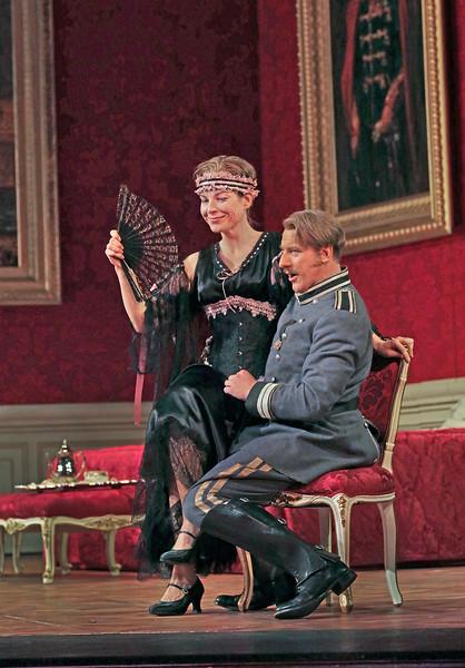 Octavian as Mariandel flirts with Ochs in Act I