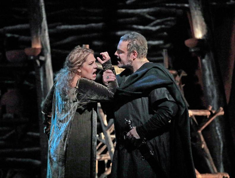 Norma rages against Pollione. Pollione is Joseph Calleja