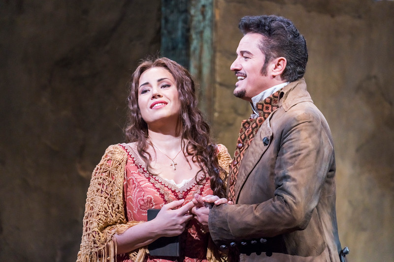 Luisa Miller (Sonya Yoncheva) and 'Carlo,' the Count's son Rodolfo   (Piotr   Beczała) in disguise
