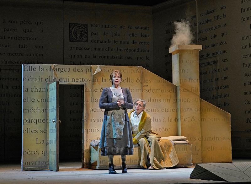 Joyce DiDonato as Cinderella and   Laurent Naouri as her father Pandolfe