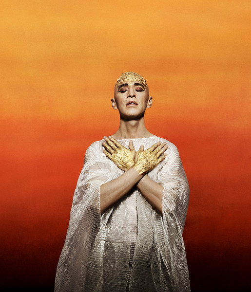 Anthony Roth Costanzo sings the title role of  Akhnaten