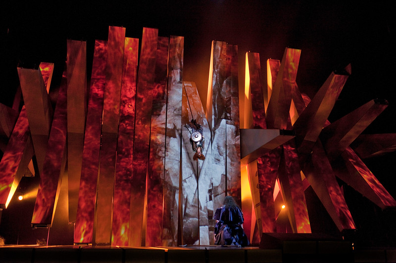 The Magic Fire in Act III here in the Robert LePage production at the Met