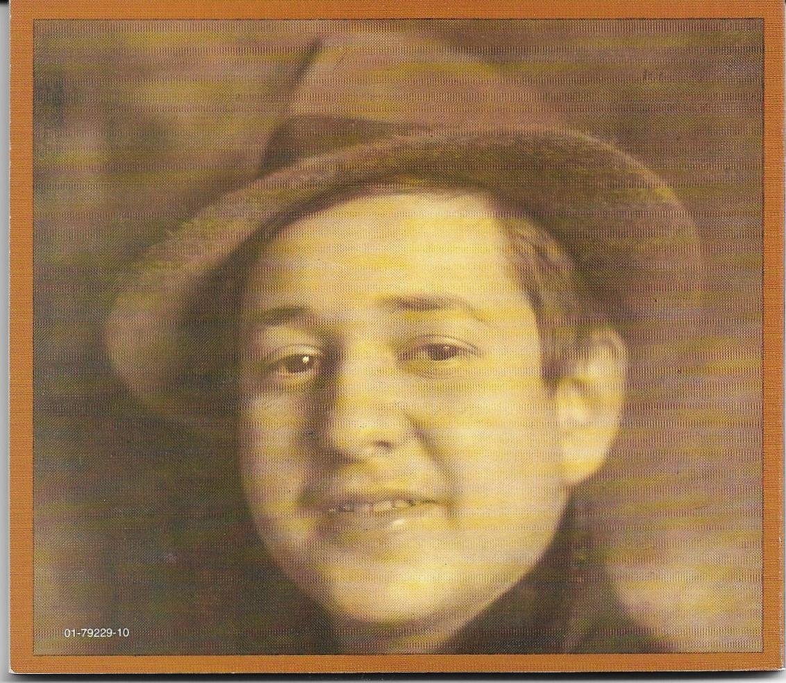 Young Erich Wolfgang Korngold, back cover of libretto for CBS Records  Violanta