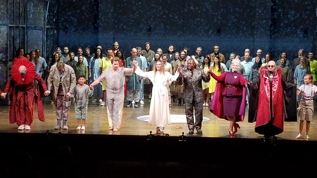 Curtain call at the end of Bard SummerScape's  Das Wunder der Heliane