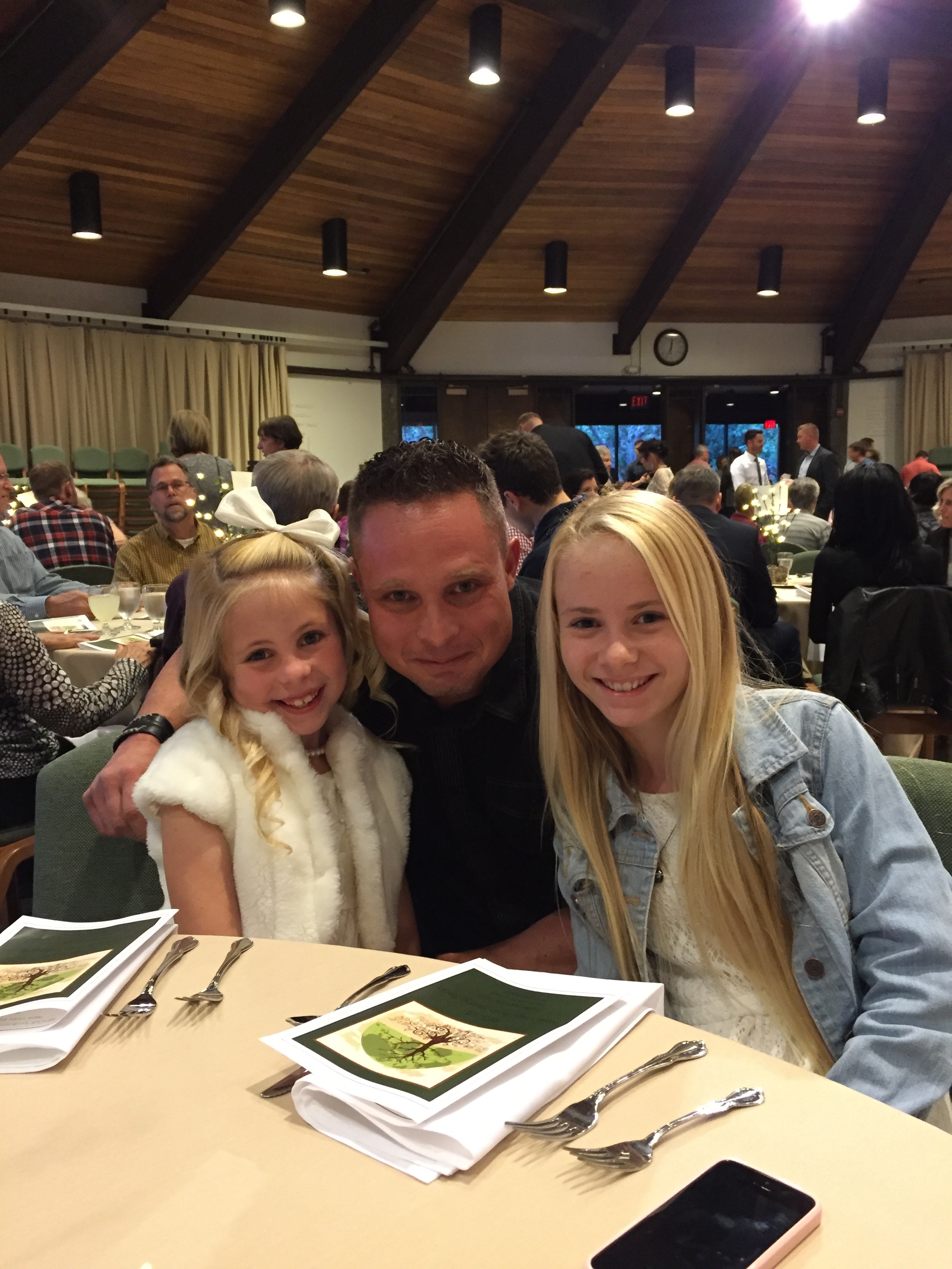Jay and his girls, Ava and Macy.
