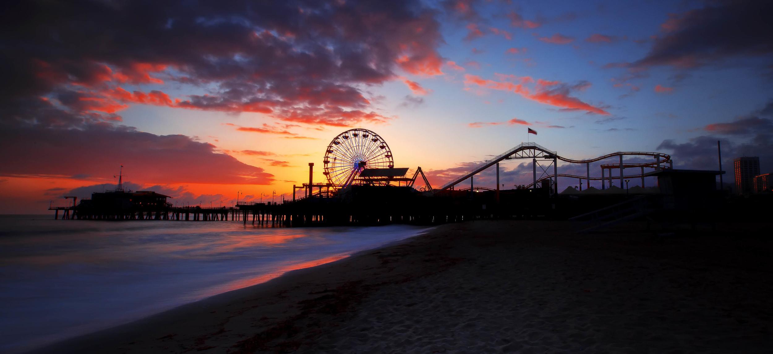 Santa Monica Pier, California. USA