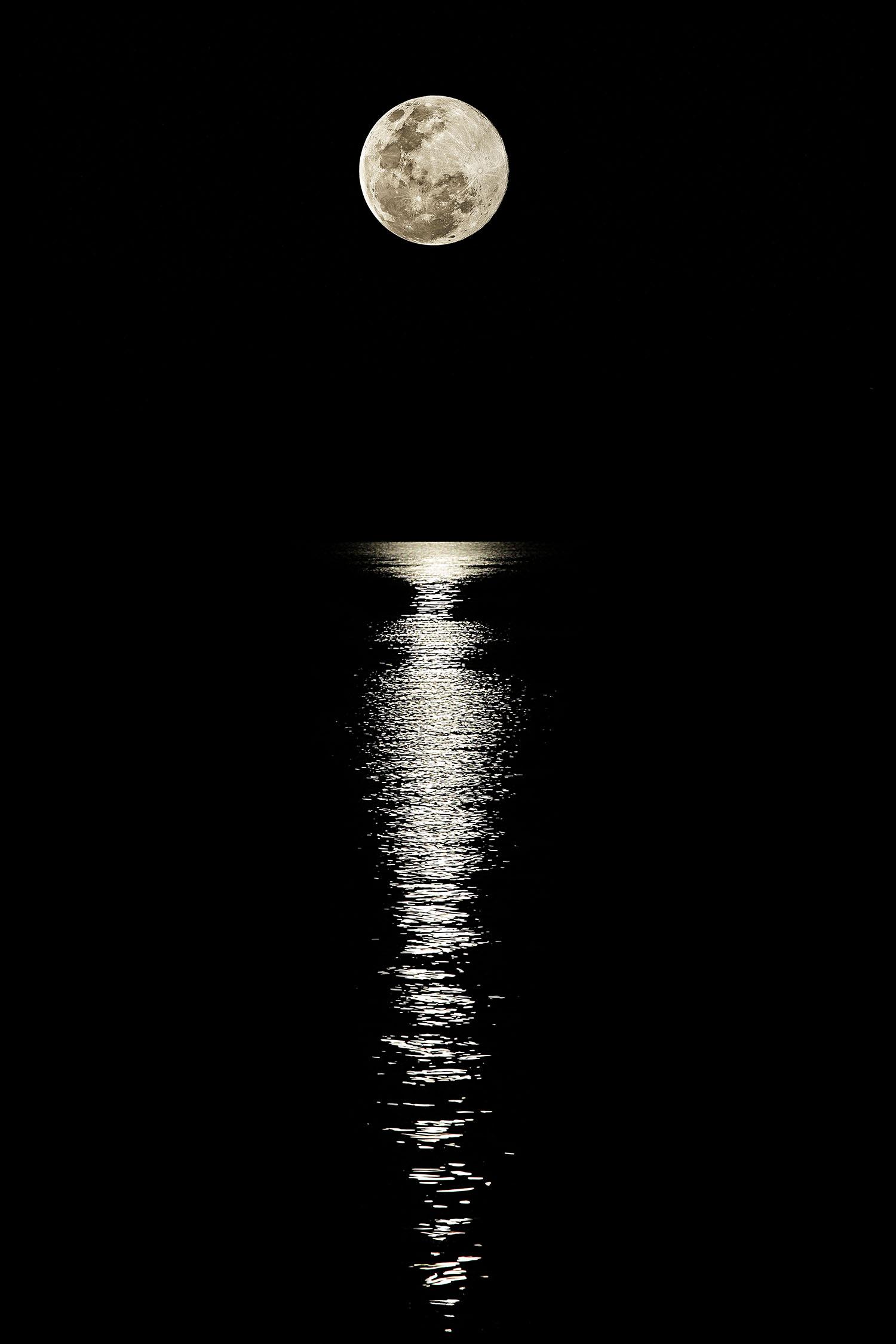 Super Moon, Gold Coast Seaway, Australia