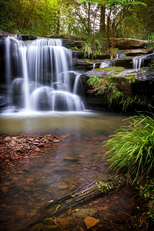 Hunts Creek Waterfall, NSW.