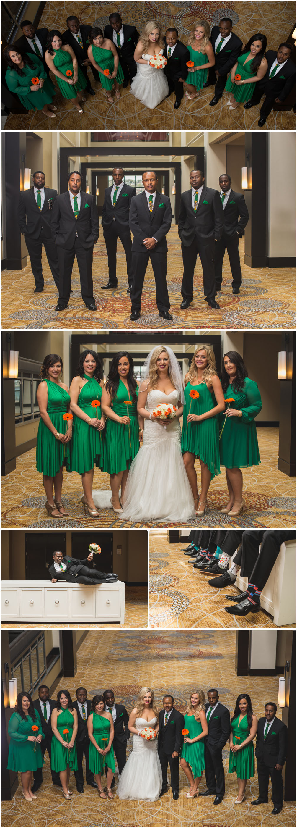 wedding party portraits at the halifax marriott harbourfront