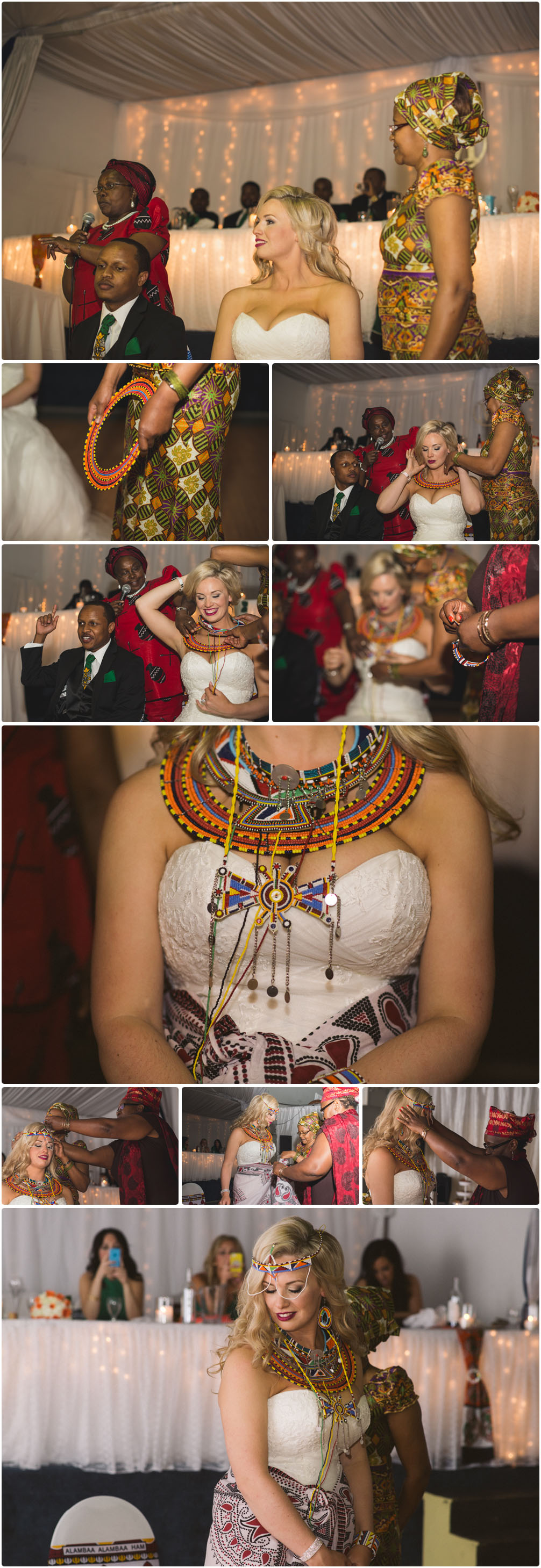 bride wears african clothing