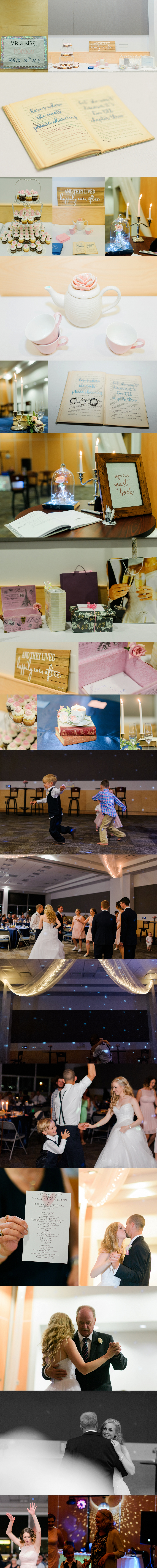 bride and groom celebrating their wedding with a reception at the pictou county wellness center