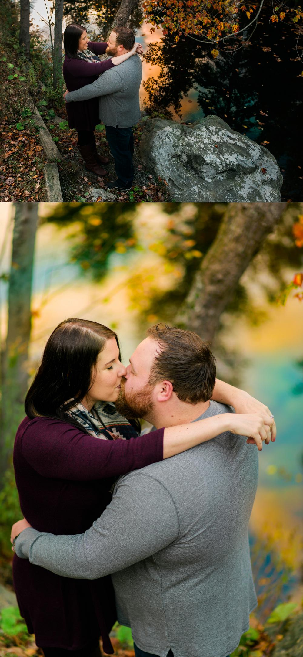 melissa and jeff enjoy an engagement session at shubie park in dartmouth nova scotia